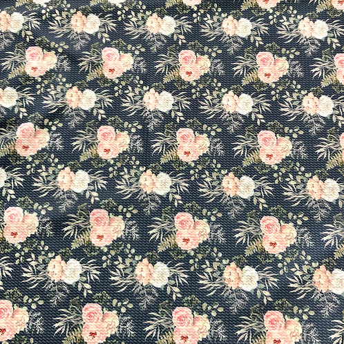 Michelle's 1 Yard cut of Blushing Blooms -Double Brushed Poly