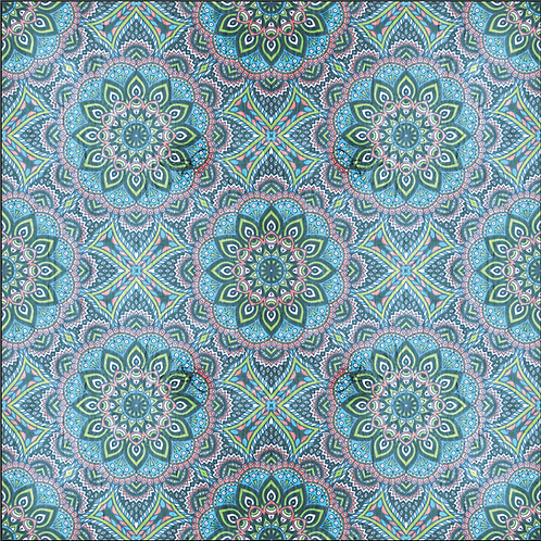 Michelle's **1 Yard** Spring Mandala Cotton Lycra