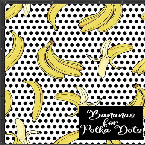 Michelle's *1 Yard* Banana for Polka Dots - PUL