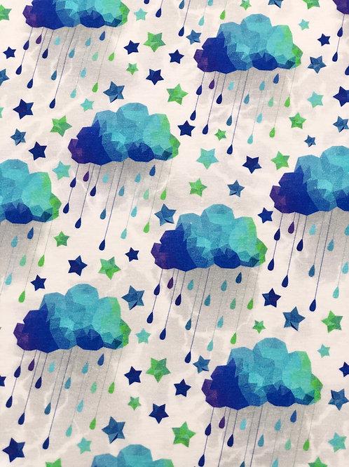 Erica's Blue Acid Rain on Lightning- Cotton Lycra