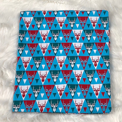 "Michelle's *Short 33"" Cut* Christmas Deer - Cotton Lycra"