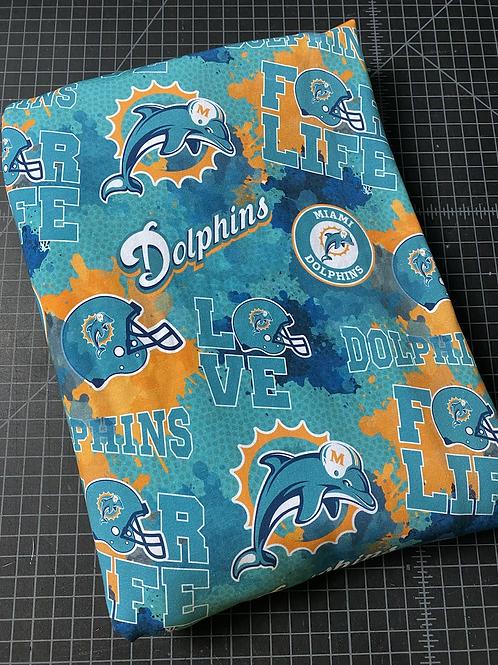 "Erica's 1 Yard Cut ""Dolphins"" Main Print-Cotton Lycra"