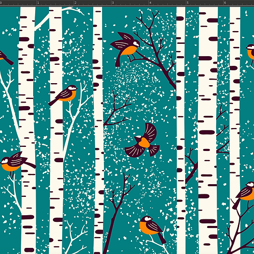Michelle's 1 yard of Fall Birds -Double Brushed Polyester
