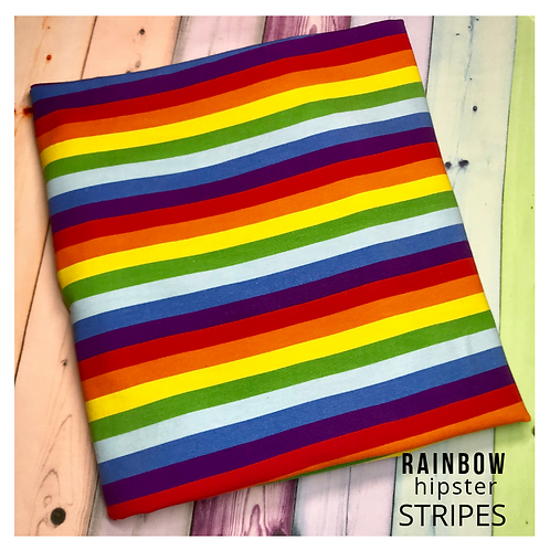 Erica's *1YARD* Rainbow Hipster Stripes -French Terry
