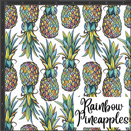 Michelle's **1 Yard Cut** Rainbow Pineapple -PUL