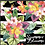 Thumbnail: Michelle's 1 yard cut of Hawaiian Blooms- Bamboo Lycra