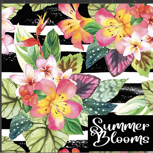 Michelle's 1 yard cut of Hawaiian Blooms- Bamboo Lycra