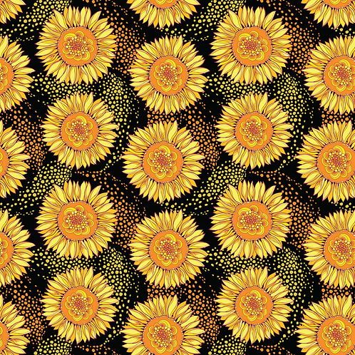 "Michelle's 1 Yard + 12"" cut of Sunflower Breeze- French Terry"