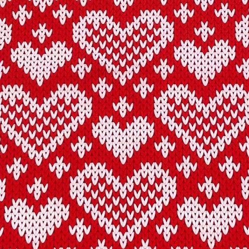 Michelle's *1 Yard Cut* Valentine Sweater- Cotton Lycra