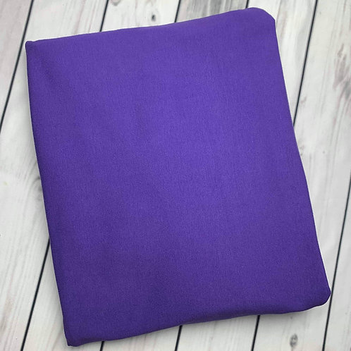 "Erica's Solid Purple Premium Cotton Lycra 13-14oz 75""wide"