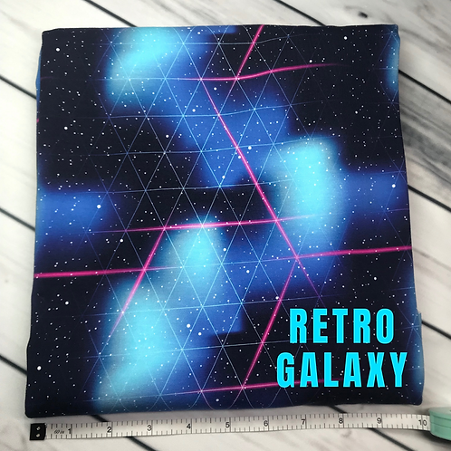 Michelle's 1 Yard cut of Retro Galaxy- Athletic Spandex
