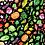 Thumbnail: RE-PRINT SMALL SCALE Rainbow Veggies on Black