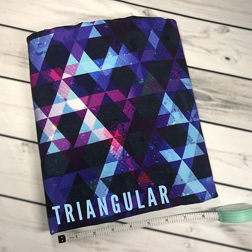 Michelle's 1 Yard cut of Triangular Galaxy- Athletic Spandex