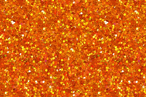 Michelle's 1 Yard cut of Orange Confetti Glitter- Cotton Lycra