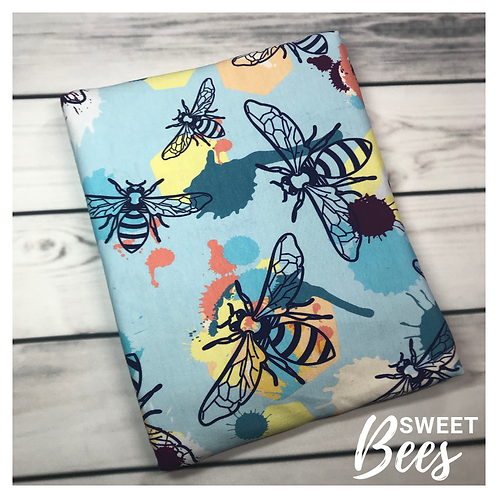 Michelle's **HALF YARD** Sweet Bees- Cotton Lycra