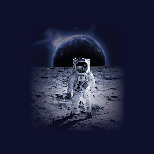 Michelle's Moon Landing Child Panel- Cotton Lycra