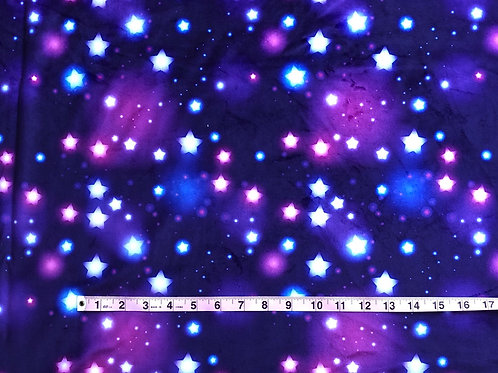 Michelle's *1 Yard* Glow Stars- Minky
