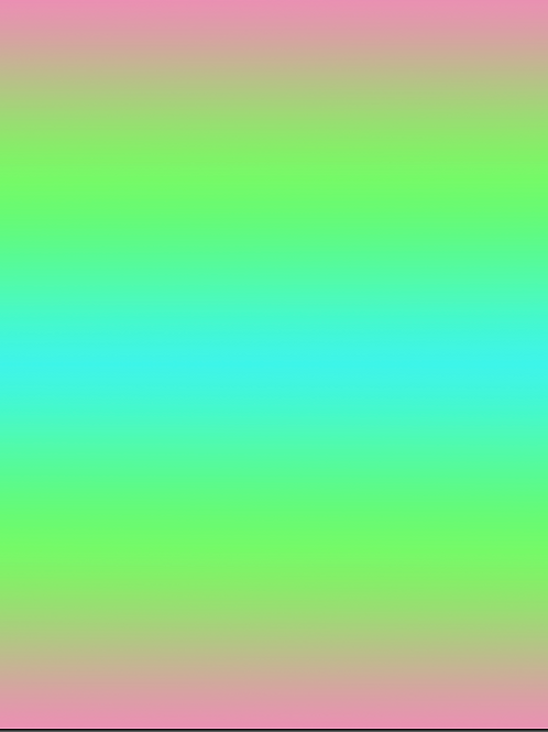FLAWED Michelle's **Fat Half** Rainbow Sherbet Ombre- Cotton Lycra