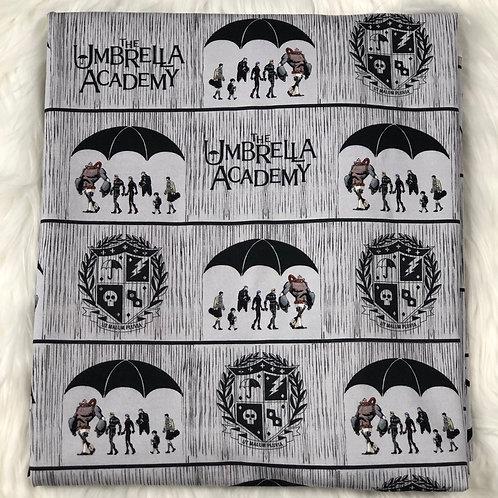 *1 Yard Cut* Umbrella Heroes Comic- Cotton Lycra