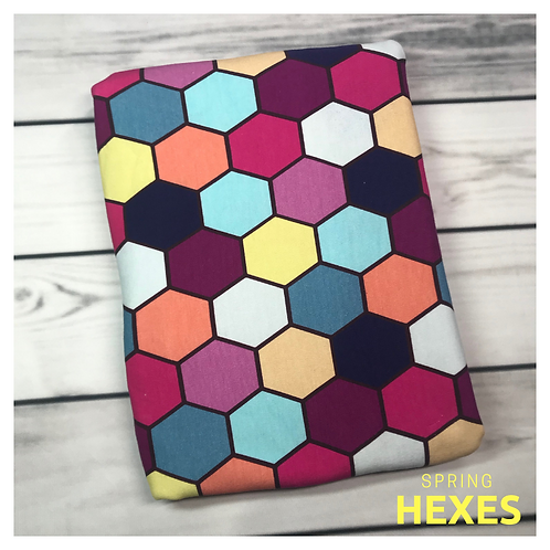 Michelle's 1 yard of Spring Hexes - Cotton Lycra