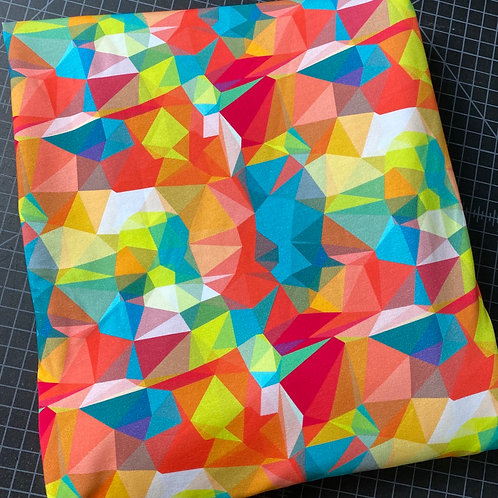 Erica's 1 yard cut of Bright Prisms-COTTON LYCRA