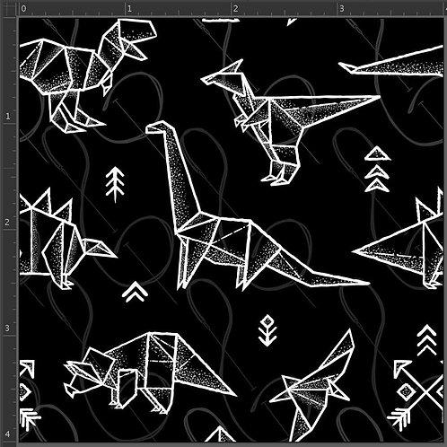 RE-PRINT Black and White Dinos