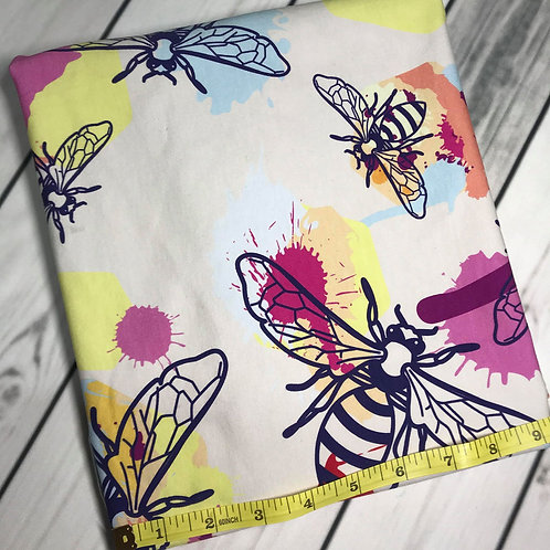 Erica's **LARGER SCALE** HALF YARD* Spring Bees-Cotton Lycra