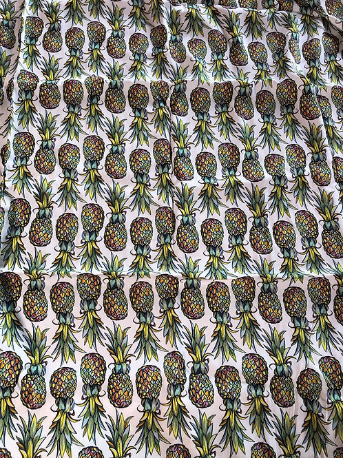 Michelle's  **1 Yard** Pineapples - Rayon/Cotton Woven