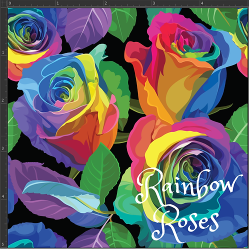 Michelle's 1 yard of Rainbow Roses-SWIM