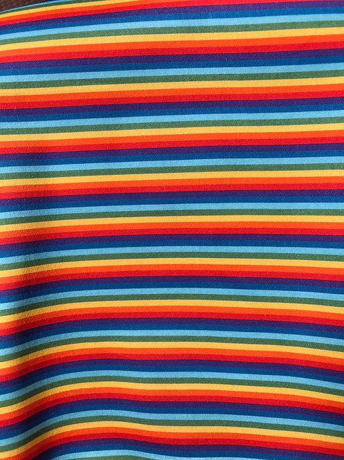 Michelle's *1 Yard Cut* Rainbow Stripes- Small Scale - Woven