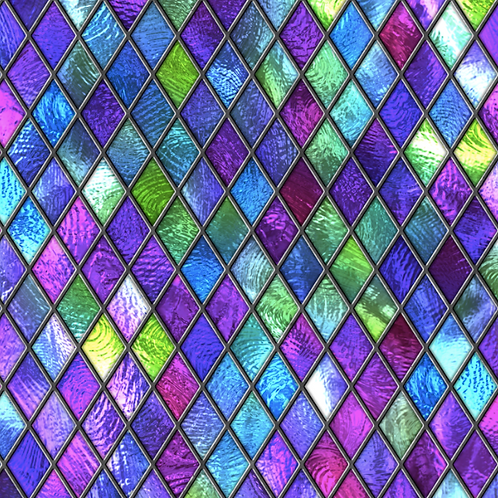 Michelle's *1 Yard Cut* Easter Stained Glass- Cotton Lycra