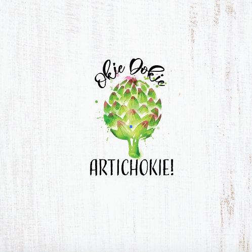 Michelle's *Child PANEL* Okie Dokie Artichoke on Rustic White- Cotton Lycra
