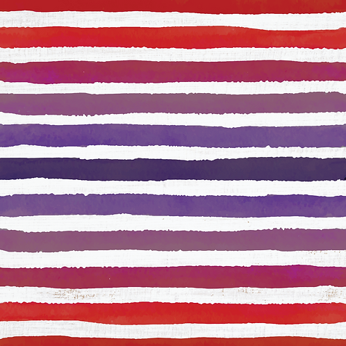 Michelle's **1 YARD cut** Purple/Red Veggie Stripes on Rustic White- Cotton Lycr