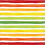 Thumbnail: Michelle's 1 YARD cut of Rainbow Stripes Veggies on White - Bamboo Lycra