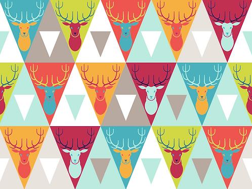 Erica's Bright Geo Deer-COTTON LYCRA