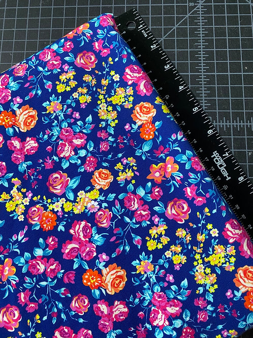 Erica's 1 yard of  Spring Floral-COTTON LYCRA
