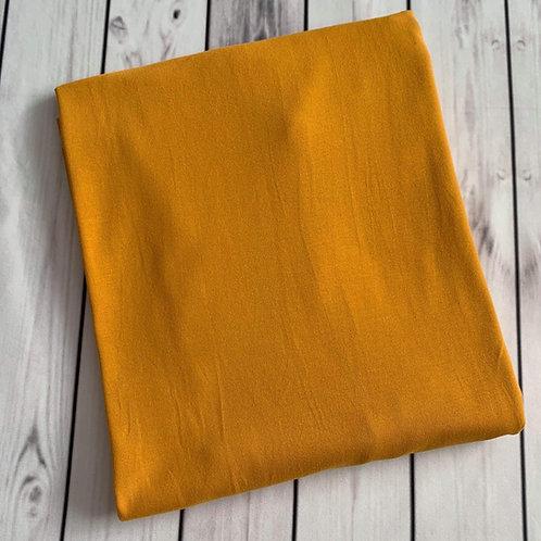 """Erica's Solid Golden Mustard Premium Cotton Lycra 13-14oz 75""""wide"""