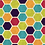 Thumbnail: Michelle's *1 yard cut*SMALL SCALE Bright Hexes- Cotton Lycra
