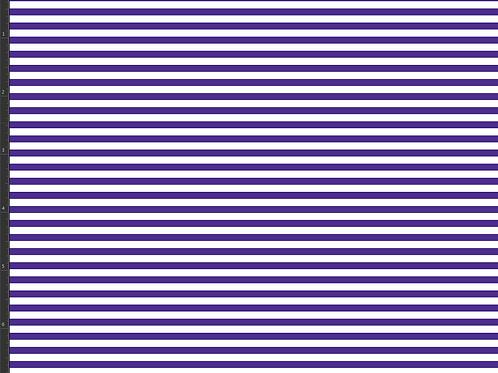 Michelle's 1 yard of Purple Micro Stripes on White - Cotton Lycra