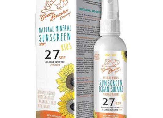 Green Beaver Natural Mineral Sunscreen Kids Spray