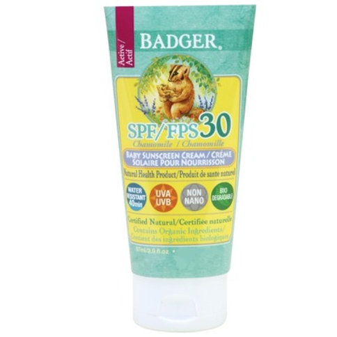 Badger Chamomile Baby Sunscreen Cream