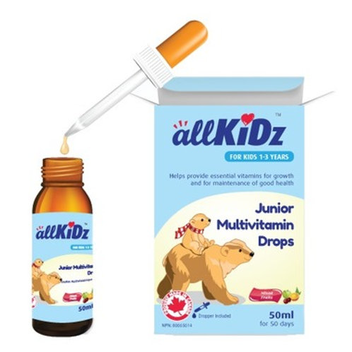 allKiDz Junior Multivitamin Drops (50ml)
