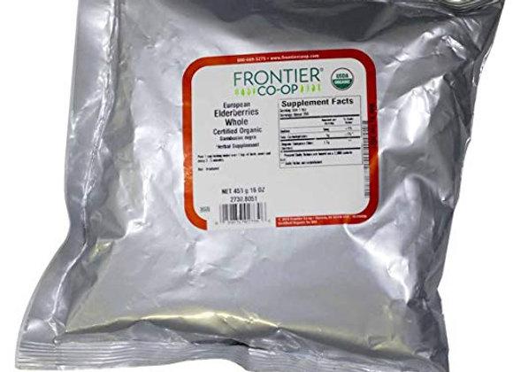 FRONTIER Organic Elder Berries Whole, 1 LB