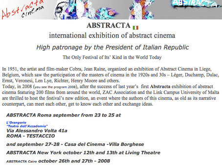 Abstracta, International Cinema Exhibition,Italy;Yeonjeong Kim Works 2007-2008