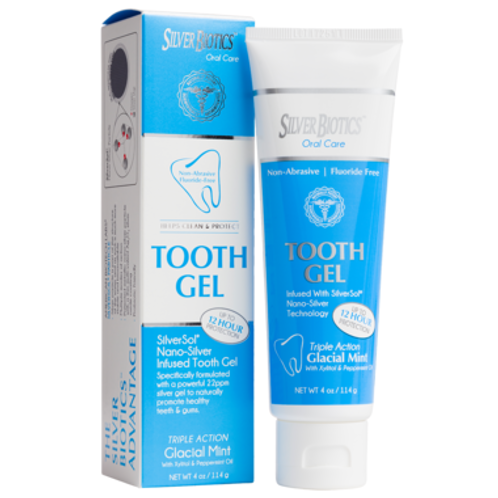 Save Silver Biotics Tooth Gel Glacial Mint