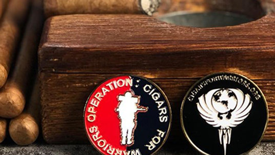 Op: Cigars For Warriors Challenge Coin