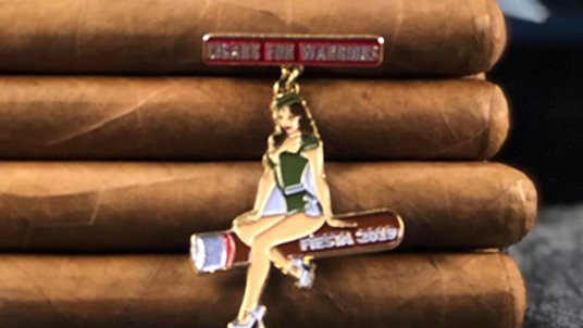 Op: Cigars For Warriors 2019 Bomber Girl Pin