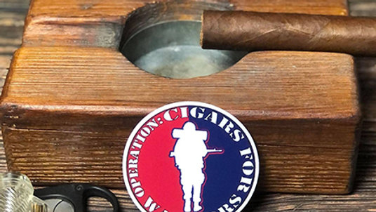 Op: Cigars For Warriors 3 Inch Decal