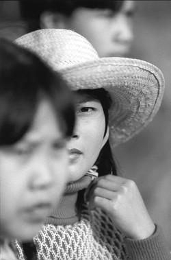 Femme au chapeau Hanoi décembre 1995