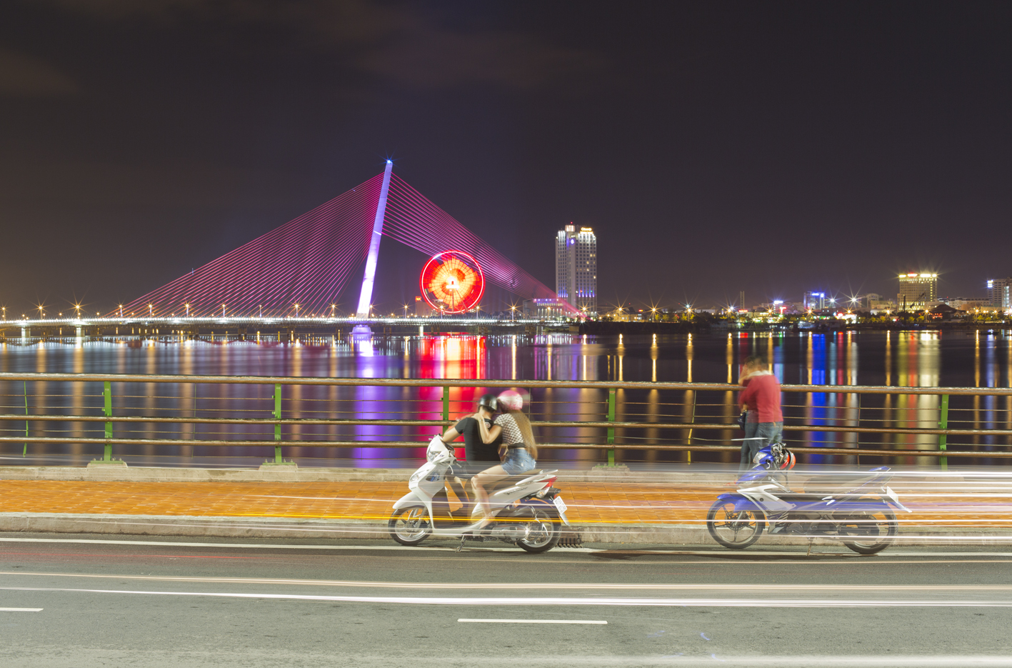 Lovers on the Dragon Bridge Danang
